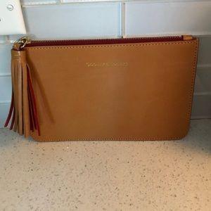 Dooney & Bourke Slim Leather Clutch w Tassel - New